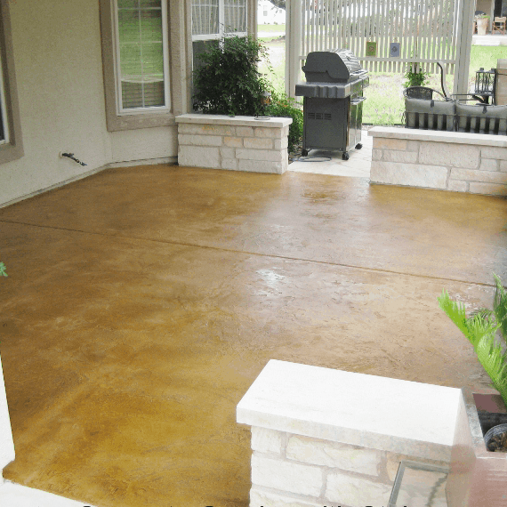 concrete staining patio new braunfels