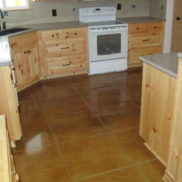 new braunfels stained concrete kitchen