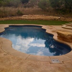 stained concrete pool deck new braunfels