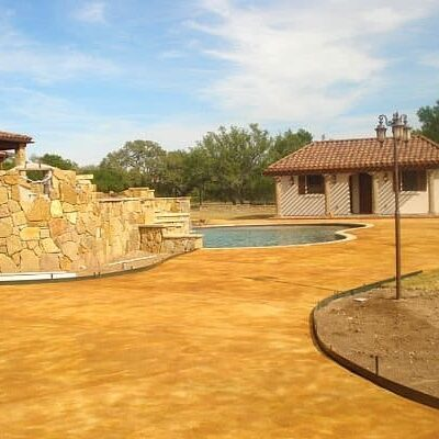 stained patio and pool new braunfels